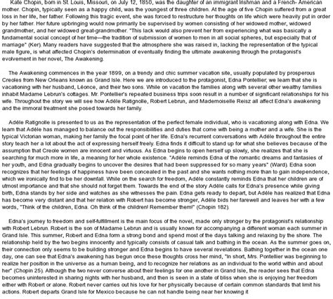 Animal Farm Analysis Essay The Awakening Kate Chopin Essays  Essay On Sports also Writing A Critical Essay Sample The Awakening By Kate Chopin Essay Example Pickbasicscf Essay On Being Honest